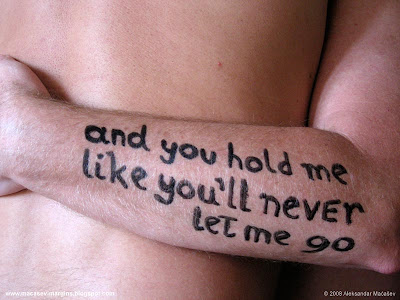 hold me like you ll never let: