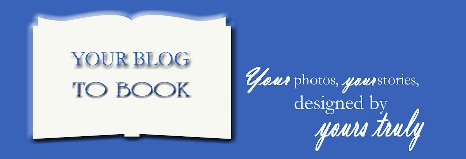 Your blog to book design