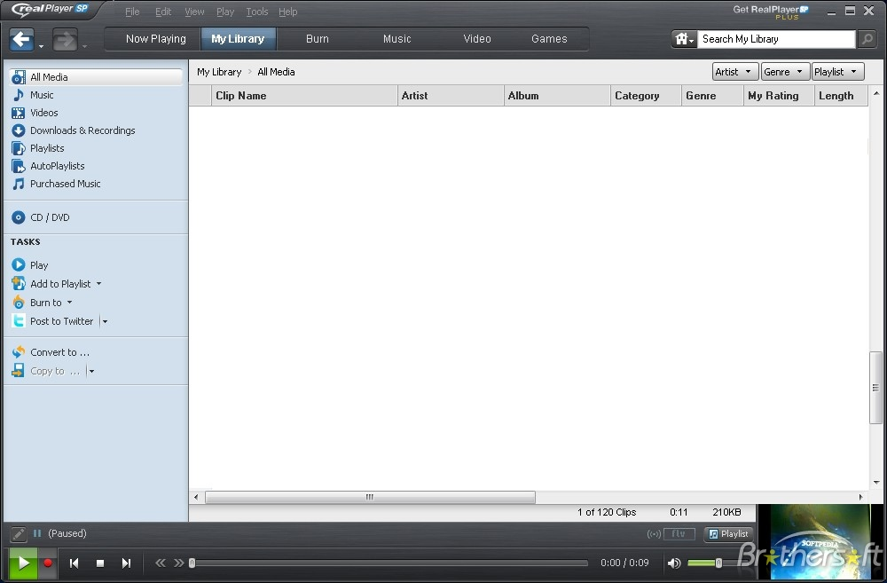 RealPlayer SP Version 1.1.4