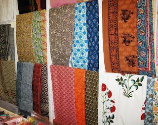 Indian printed fabrics