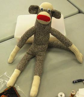 monkey keeps an eye on proceedings