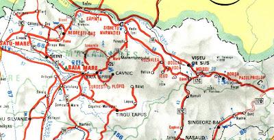 Harta Rutiera Judetului Maramures