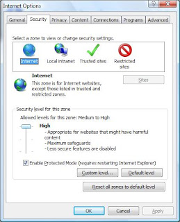 Maintaining Security in internet Explorer