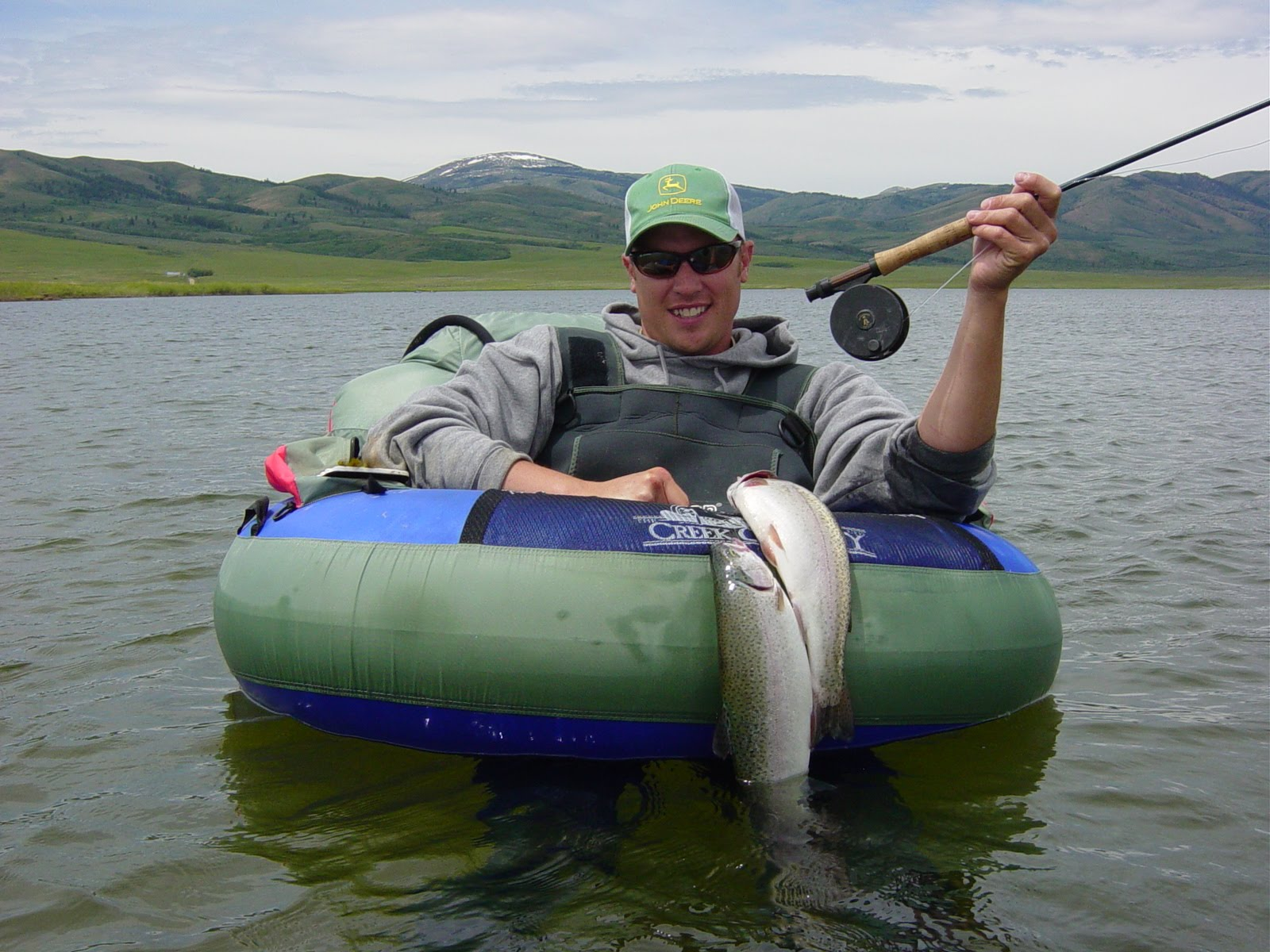 fly fish idaho rainbow brooke brown trout float tube