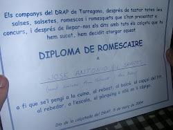 Mi diploma de Romescaire