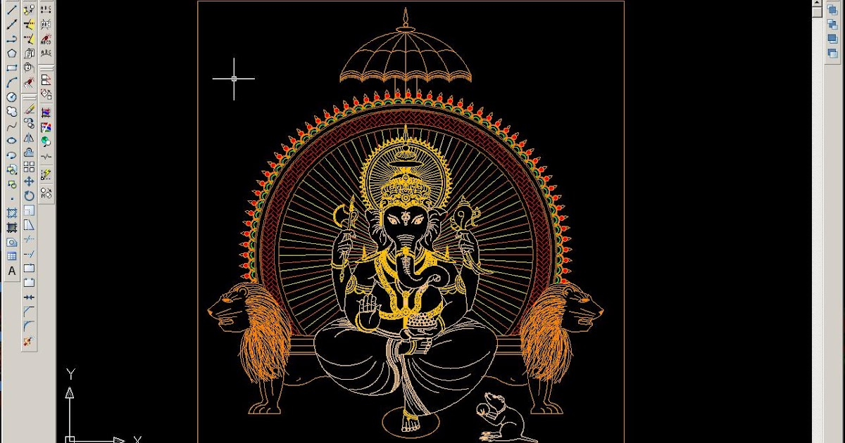Readers Contributions A Wonderful Lord Ganesha Drawing In Autocad Bricks N Mortar Com