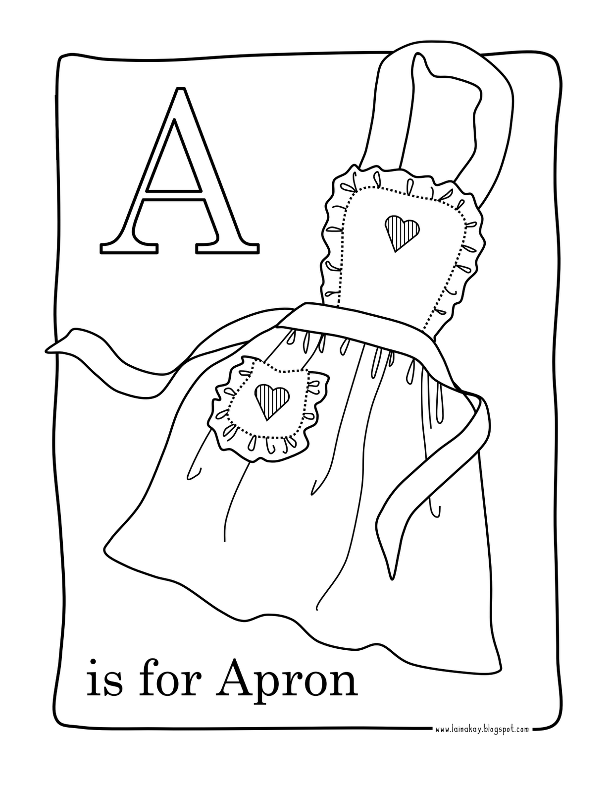White apron hours - A Few Good Coloring Pages With Some Crayons Markers Or Colored Pencils And My Girls Are Good To Go For Hours Literally