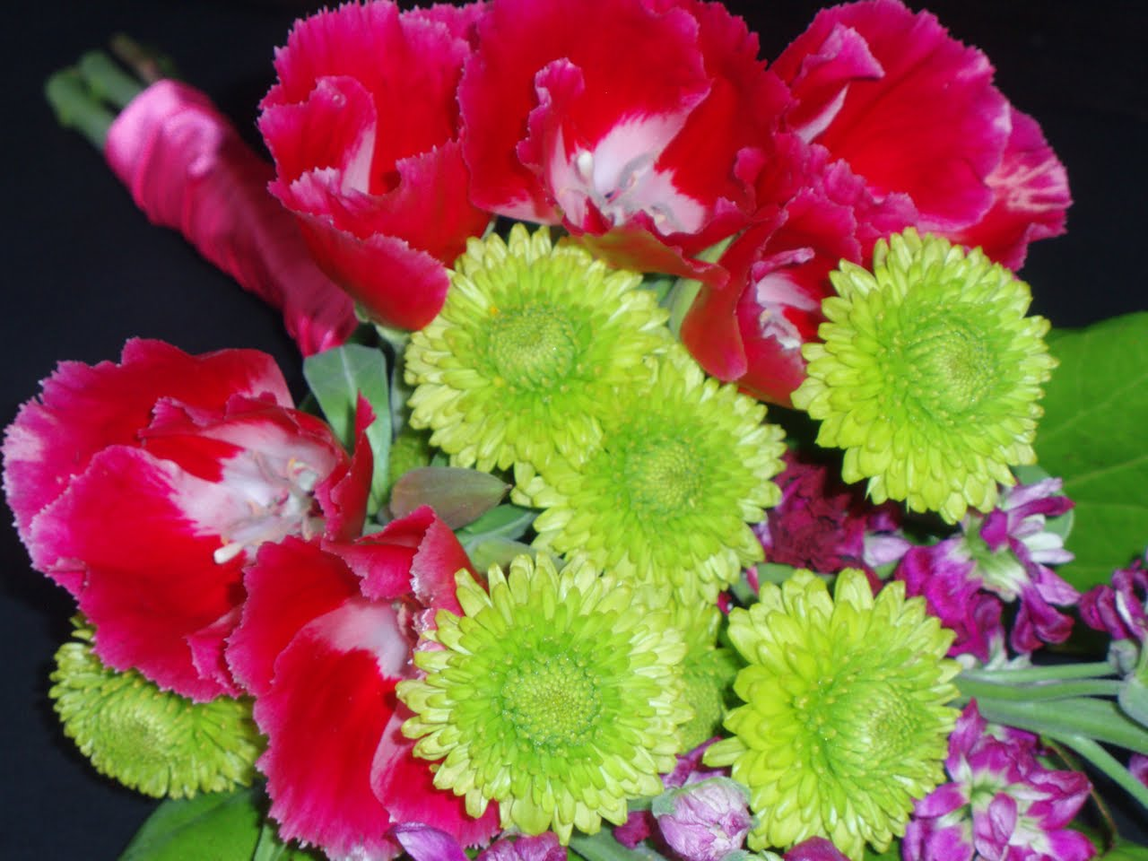 The Flower Girl Blog Hot Pink And Lime Green Flowers