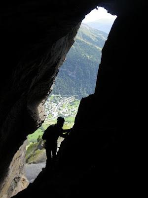 En el interior de la cueva.