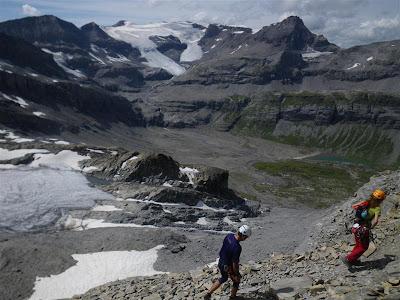 Vistas del valle glaciar, desde el collado.
