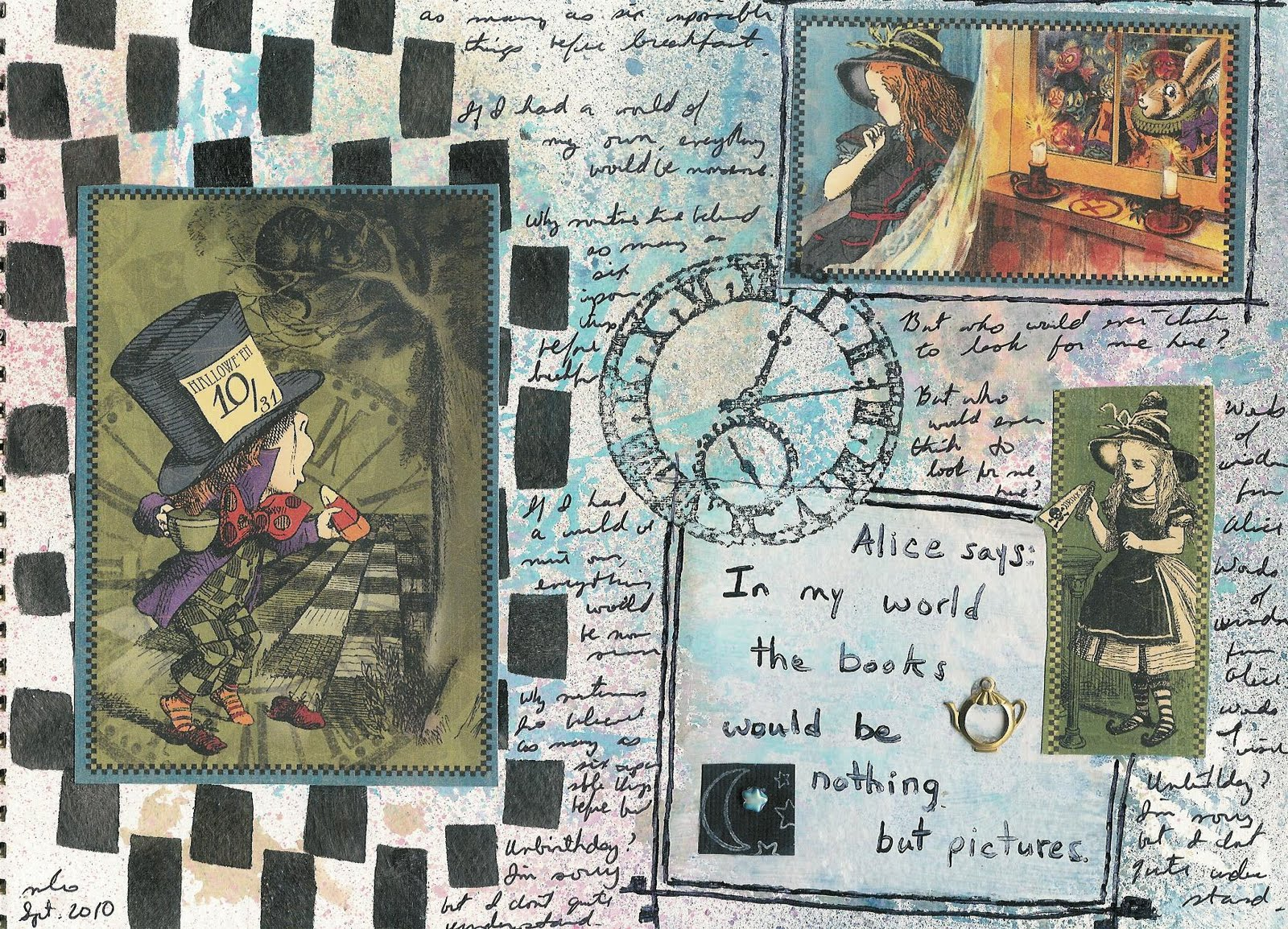 Gallo Organico Graphic 45 Art Journal Pages