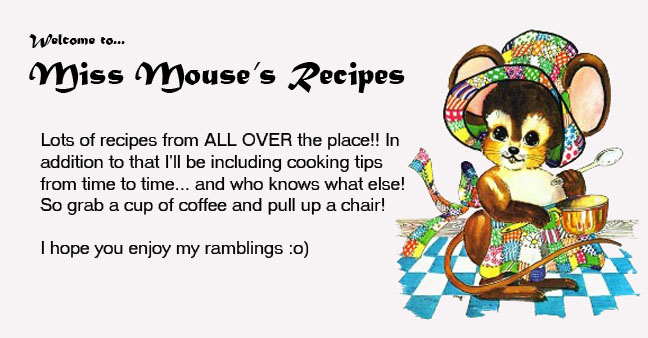 Miss Mouses Recipes