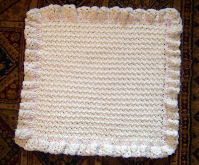 Baby Blanket Measurements on Purple Ribbon Baby Blanket  Carseat Size