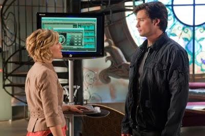 Chloe y Clark en el capítulo 907 de Smallville