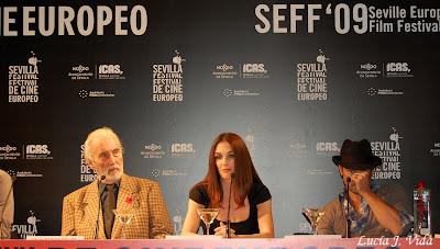 Colin Farrell, Paz Vega y Christopher Lee en el Festival de Cine Europeo de Sevilla
