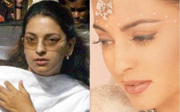 pakistani actress without makeup. Juhi Chawla Without and With