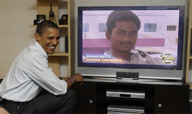 Obama watching TV