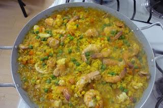 Cocinar Cigalas Congeladas | Simplemente Cocinando Paella De Cigalas Gambas Y Verduras