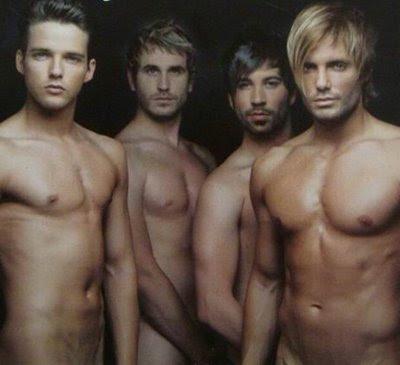 os famosos meninos vindos de terras de espanha pousaram sem pudor nus