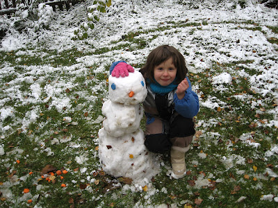 Der Schneemann ist fertig
