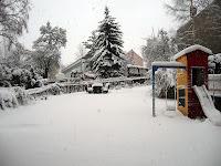 Unser Garten im Winterkleid