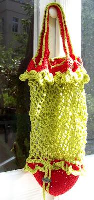 Häkelnetz Erdbeerform offen