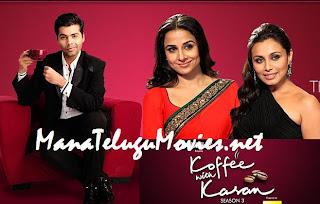Vidya Balan and Rani Mukharjee in Koffee with Karan -9th Jan