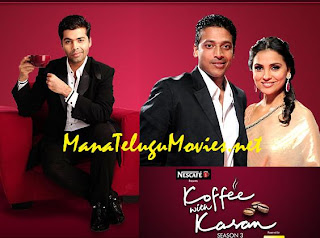 Lara Dutta and Mahesh Bhupati in Koffee with Karan