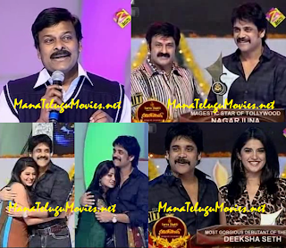 Chiru,Nag,Balayya at Super Hit Awards 2010 Function Full Video