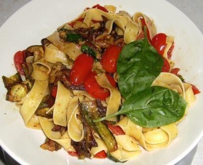 Dalla mia cucina alla tua fettuccine con nastri di zucchina e pomodori pachino - Appunti dalla mia cucina ...