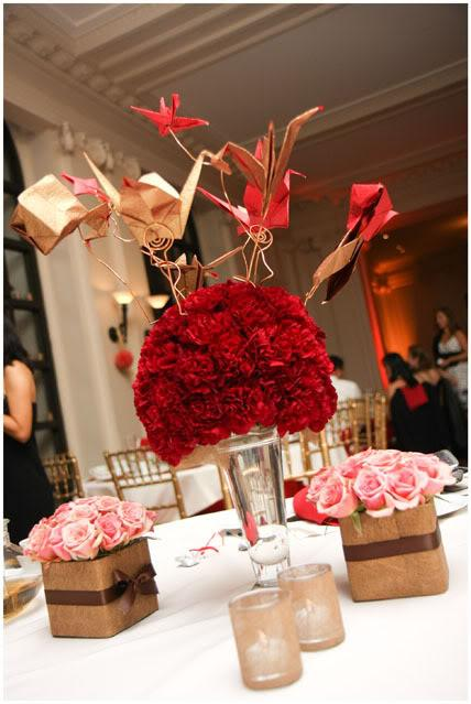 Wedding flowers and centerpieces red roses flower arrangements for wedding tables - Red centerpieces for tables ...