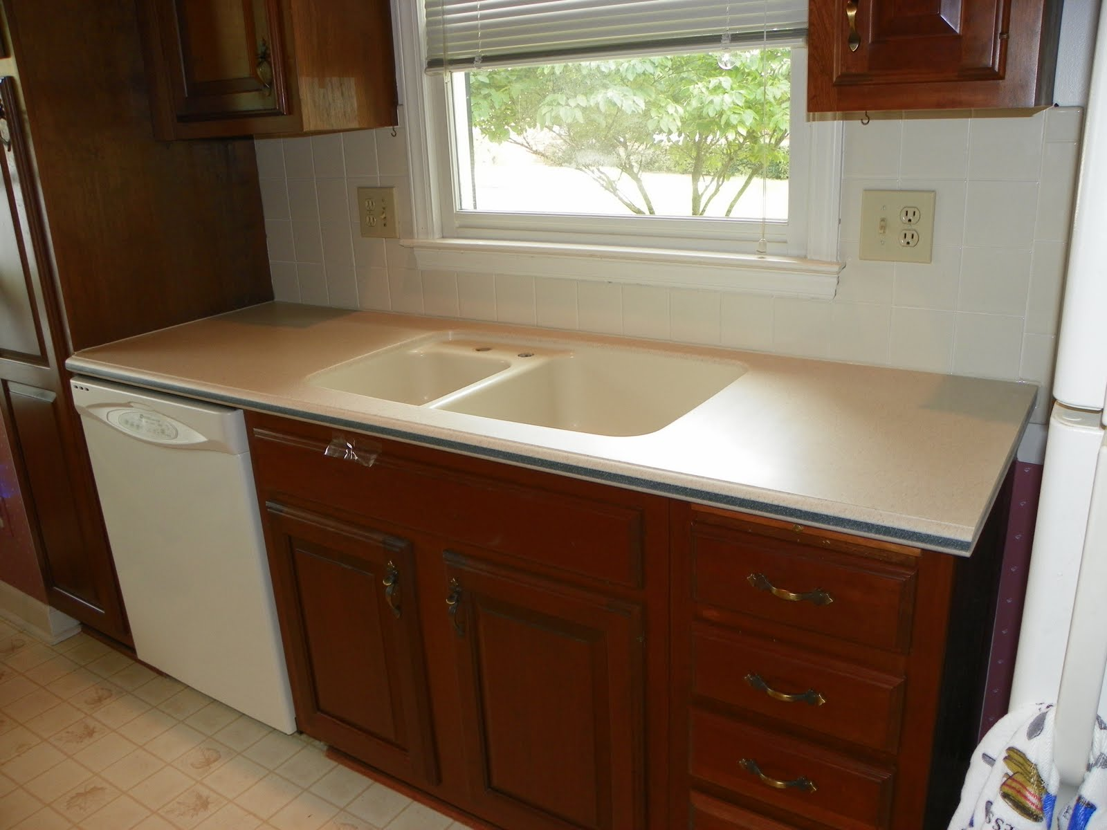 Retro Fab, Recycle, Re Use Corian Countertop, Winston Salem, NC. Done By  Complete Solid Surface Refinishing In Beautiful North Carolina!