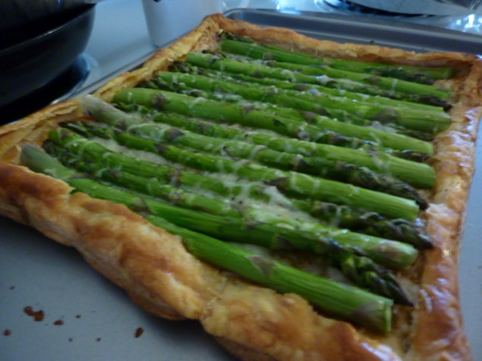 Martha, Mom, and Me: Asparagus Gruyere Tart