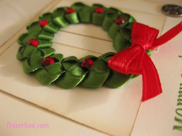 Flower Foot Designs Christmas Ribbon Wreath Video Tutorial