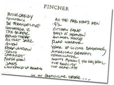 David Fincher Has Great Taste in Movies
