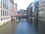 Buildings on the canals in Hamburg