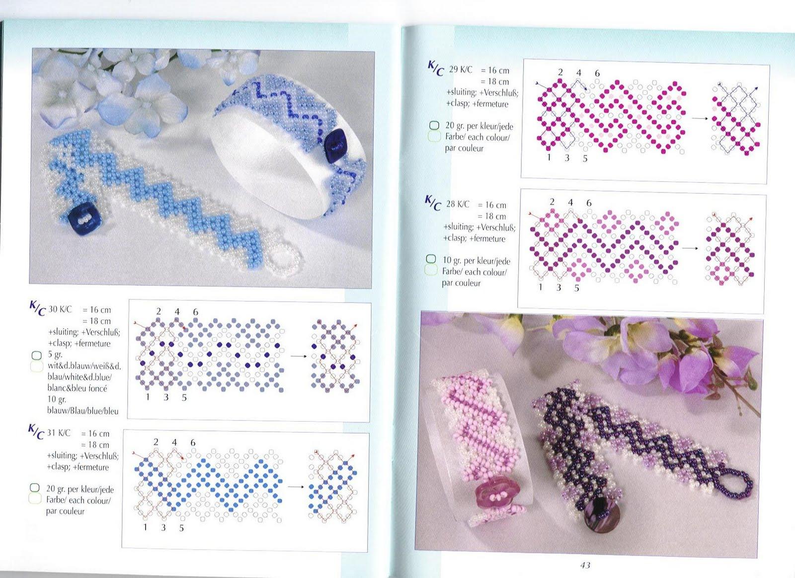 Плетения украшений с бисера схемы фото