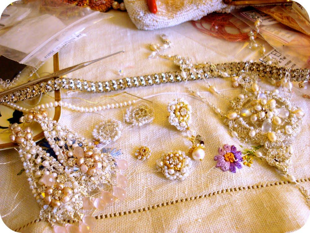 a custom alida wedding brooch