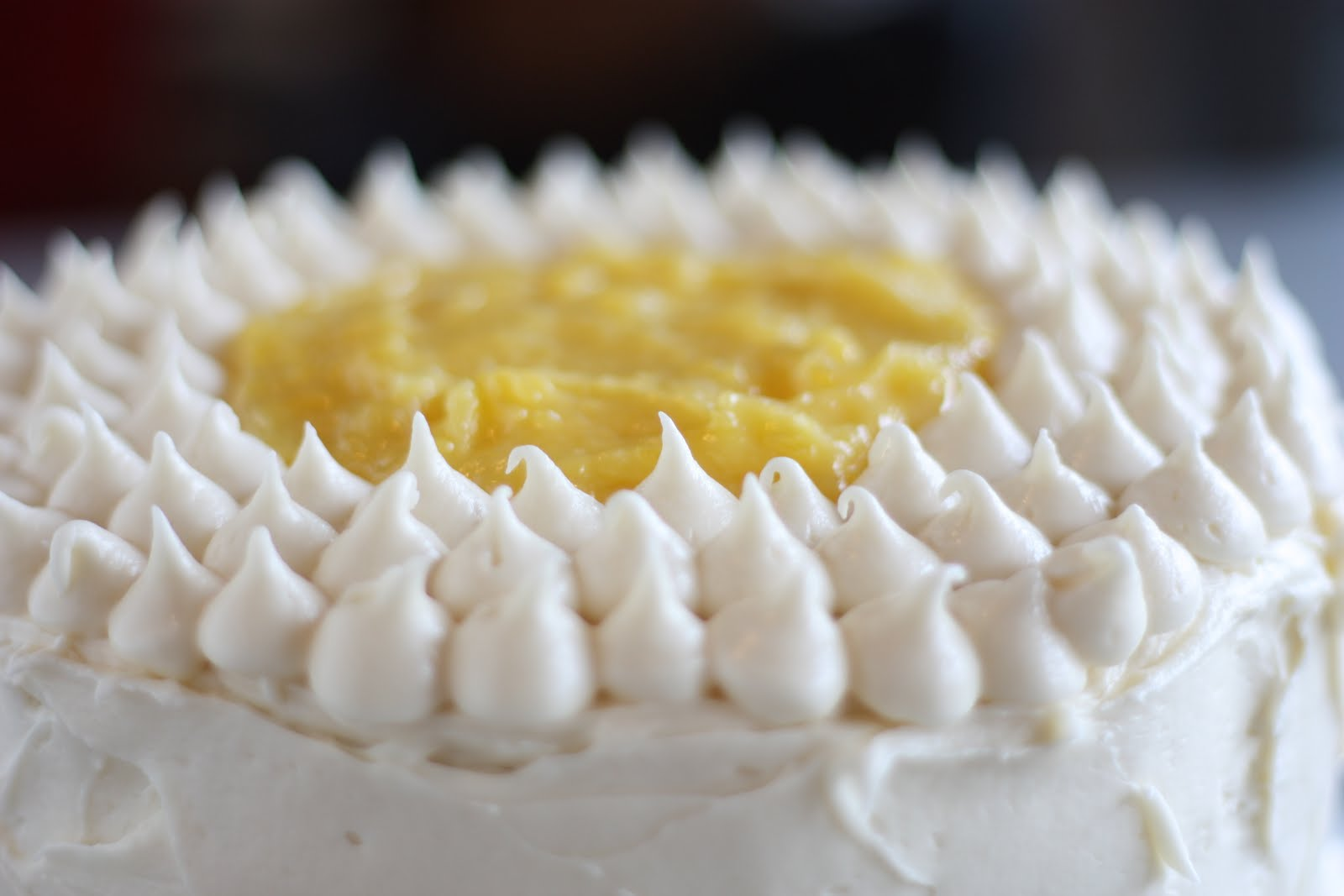 Lemon Layer Cake (with Lemon Curd and Cream Cheese Frosting)
