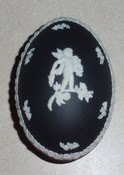 Black Jasperware Egg Shaped Trinket Box