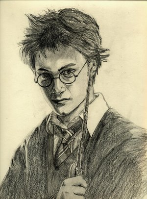 my special picy Harry_Potter_Drawing_by_iDrawU