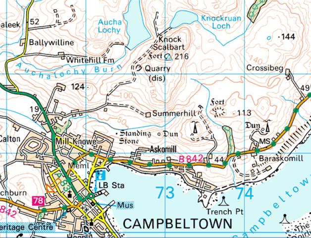 Campbeltown Scotland Map.Whisky Story Lochruan Distillery Campbeltown