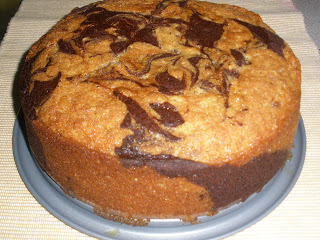 Chocolate And Vanilla Marble Loaf Cake Recipe