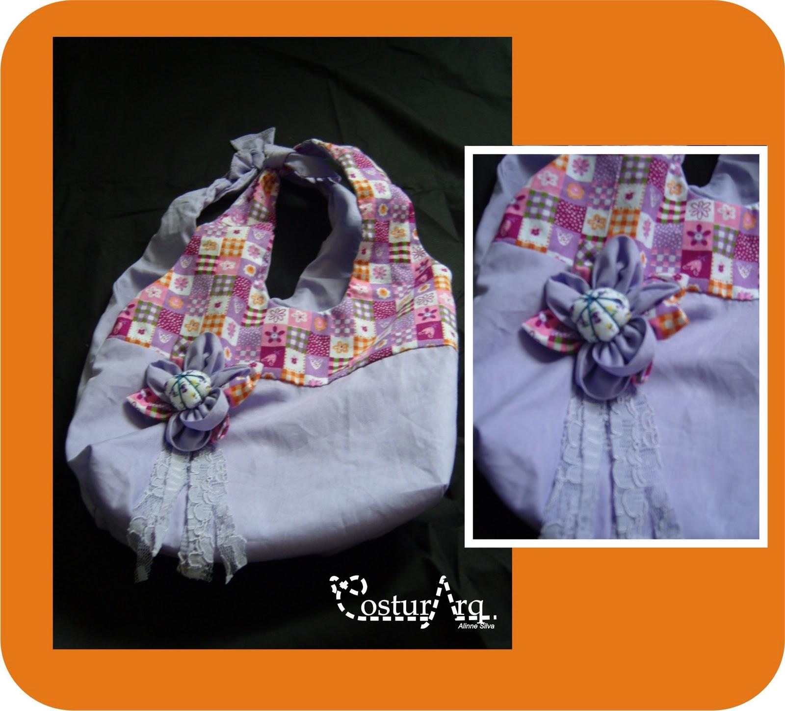 Bolsa De Tecido Com Renda : Bolsa infantil de tecido costurarq