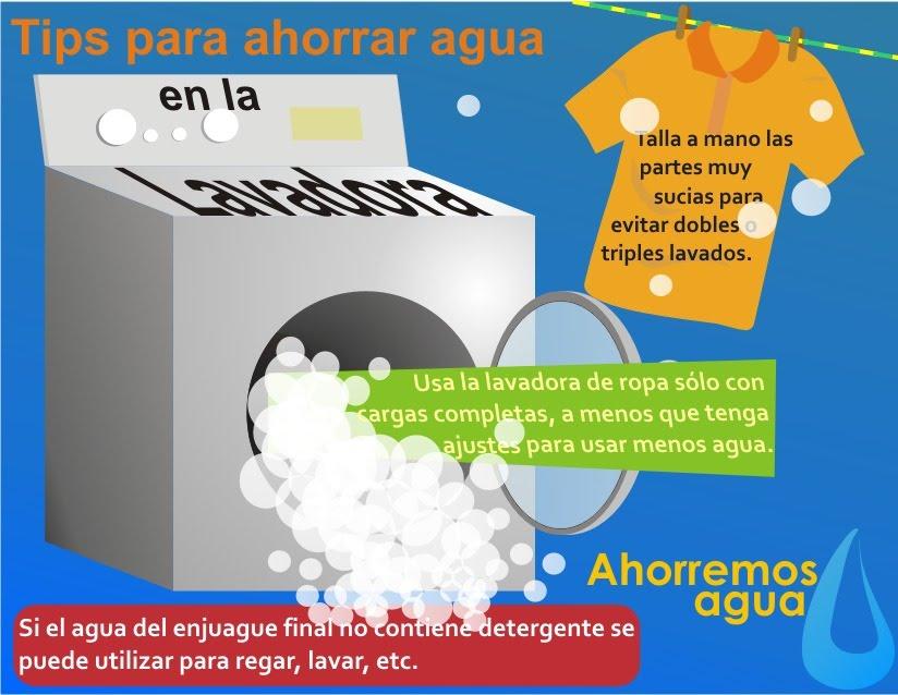 Scannia tips para ahorrar agua en el uso de lavadora for Cosas para ahorrar agua