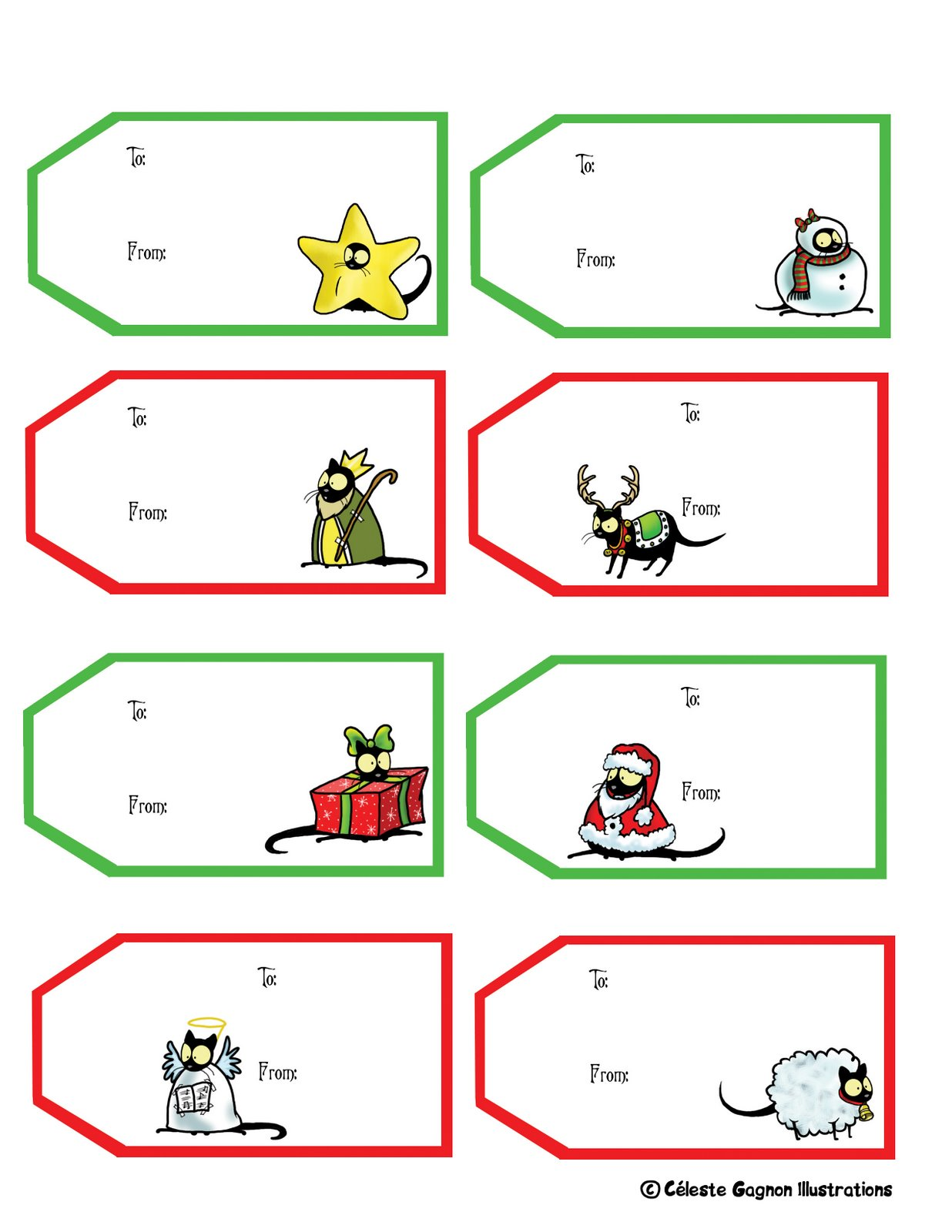 free christmas mailing label template .