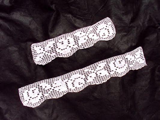 Dory´s Creaciones: Conjunto de puntillas para toalla y toallón