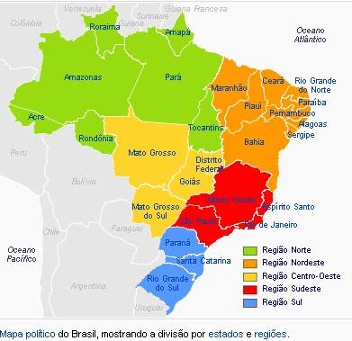 Resultado de imagem para mapa politico do brasil