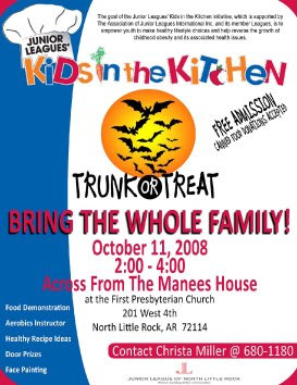 Trunk Or Treat Flyer http://northeastlakewoodneighbo.blogspot.com/2008/10/junior-league-of-nlr-trunk-or-treat.html