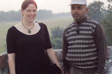 Volunteer Dr. Meelisa with Bishnu Pd.Poudel